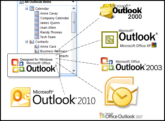 Works with major versions of Microsoft Outlook