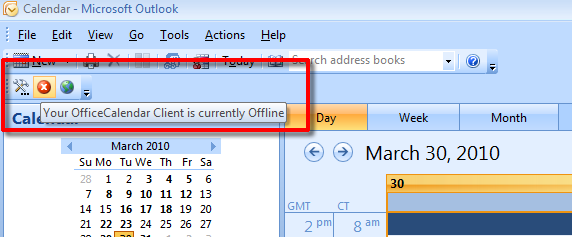 Sharing Outlook in offline mode